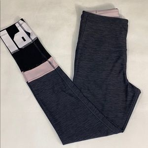 VS PINK full length legging with mesh detail